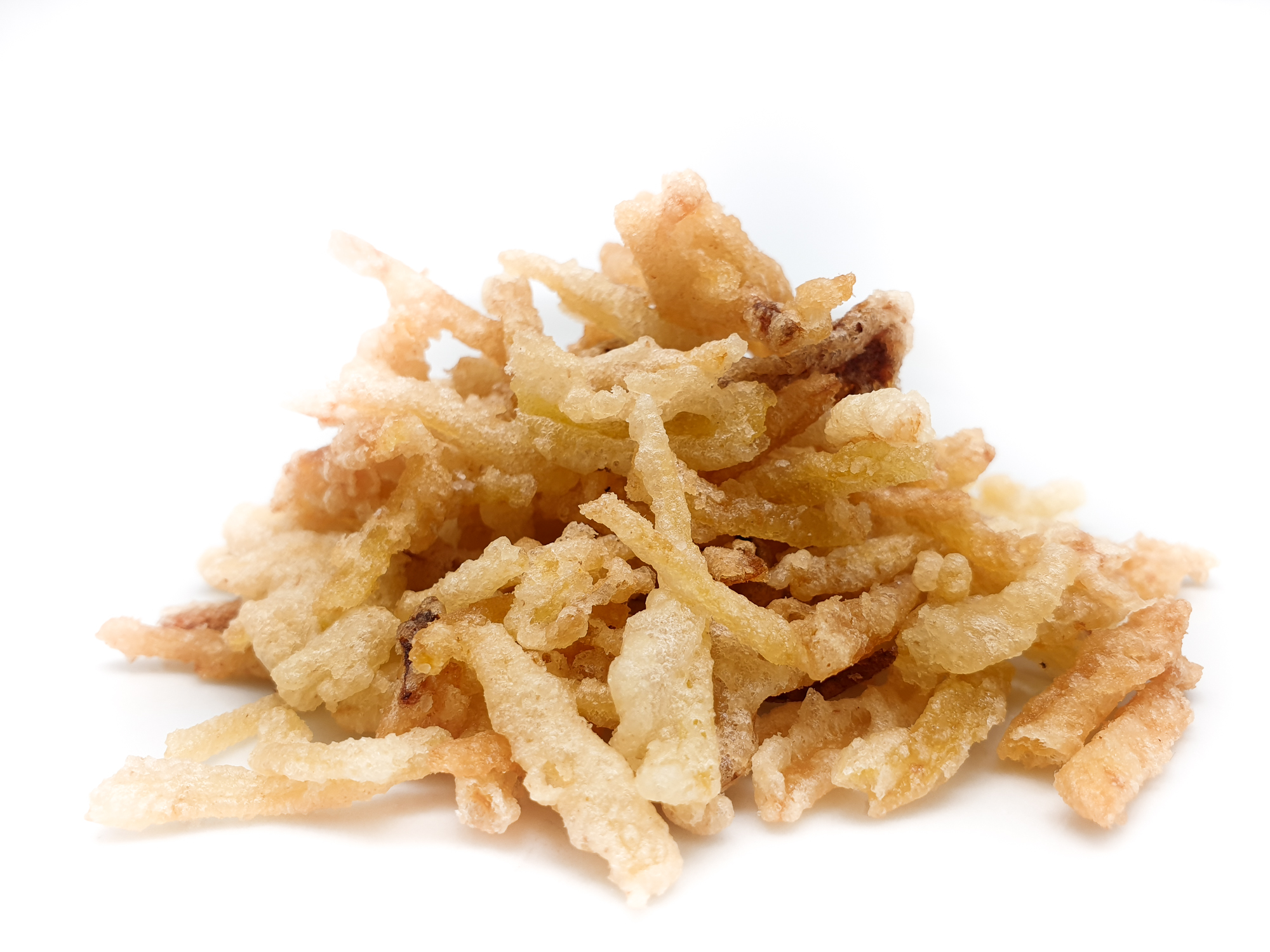 Cebolla y patata tempura fina
