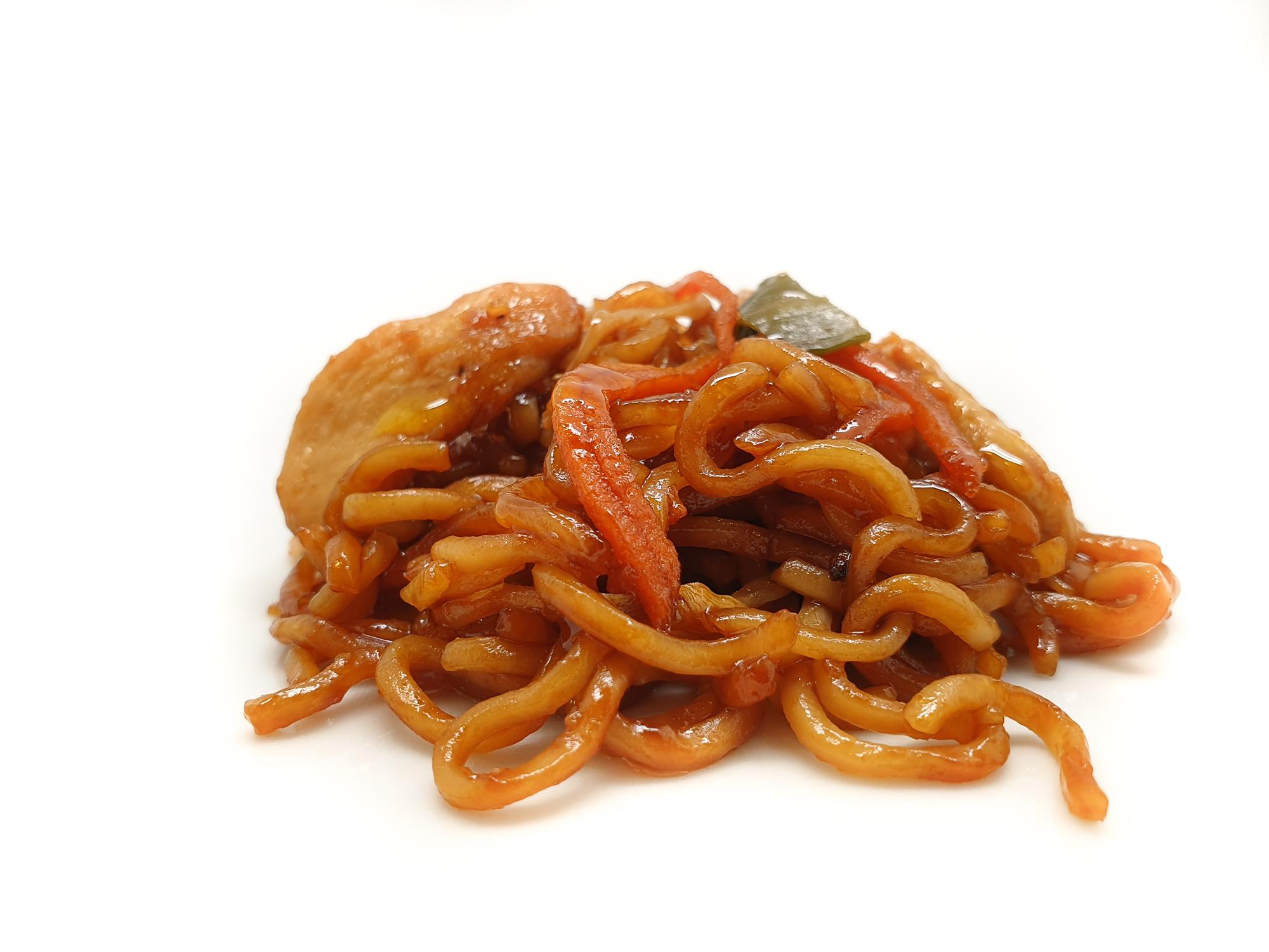 Noodles de pollo teriyaki